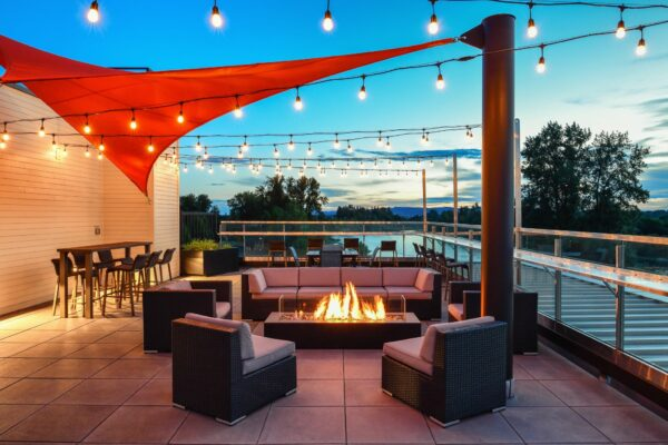 Independence Hotel's Rooftop Deck