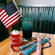 Chase Bar and Grill patriotic drinks