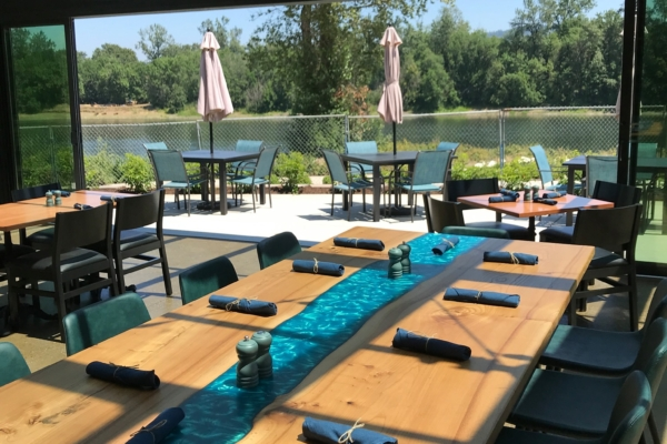 Territory Restaurant Patio looking over the Willamette River