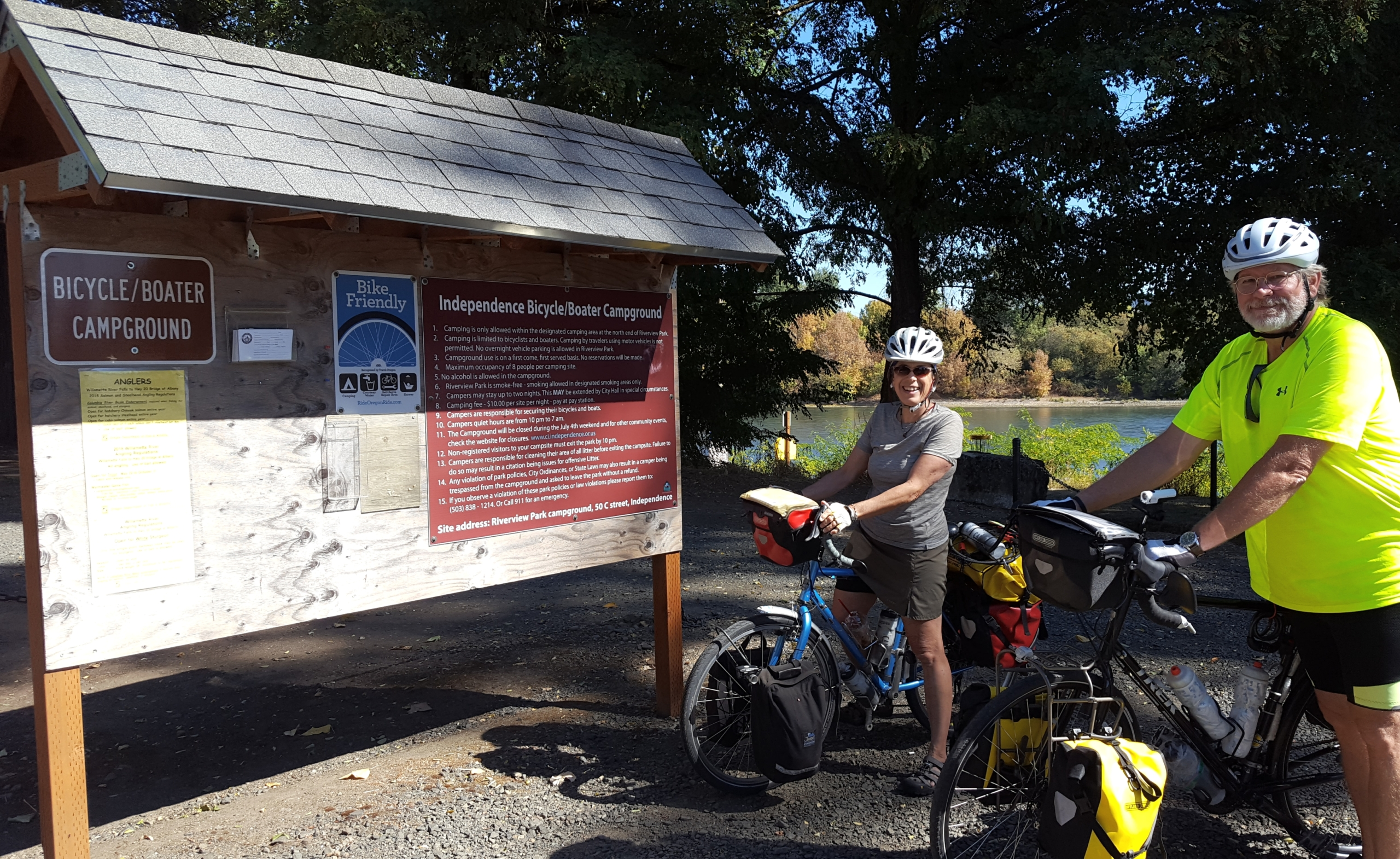 Bikers at the Independence Bicycle Boater Campground