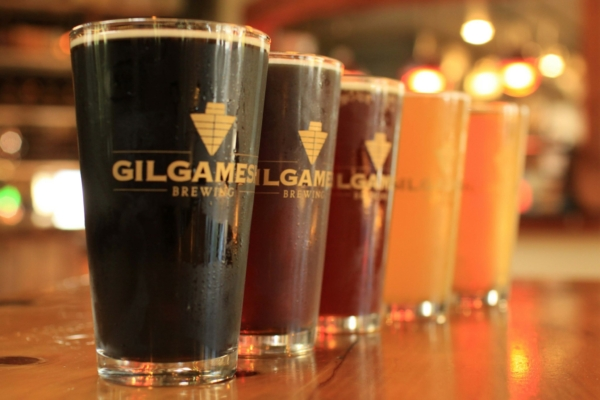 Image shows variety of Gilgamesh Beer