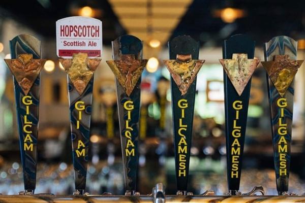Image shows Gilgamesh brews on tap