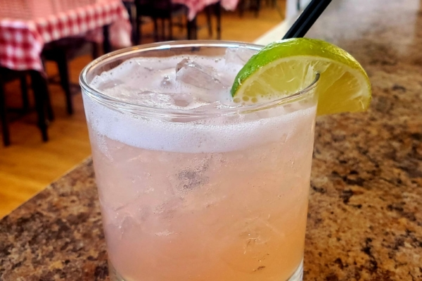 Image shows cocktail option from Mangiare Italian Restaurant in Independence, Oregon