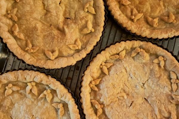 Image shows fresh Ovenbird Bakery Pies