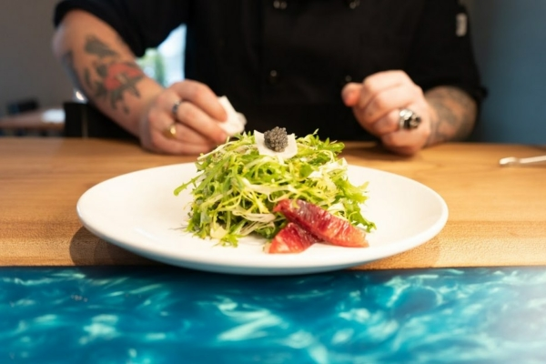 Image shows freshly plated salad from Territory